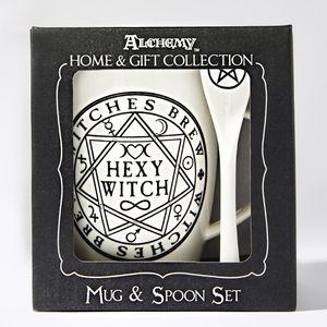 Alchemy Gothic Hexy Witch Cup & Spoon Set
